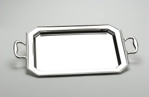 INOX PLATEAU RECTANGLE ANSES OCTO